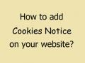cookies notice